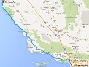 Dag 1 - 331 miles - 522 km