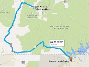 Dag 7 - 150 miles - 241 km