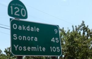 På vej til Yosemite